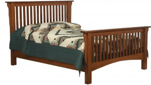 Schwartz Mission Wood Slat Bed
