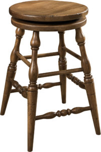 Scoop Seat Swivel Bar Stool