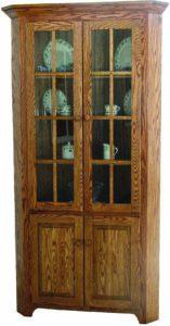 Shaker Corner Cabinet Hutch