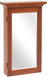 Wall Mounted Shaker Mirrored Jewelry Armoire