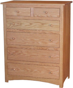 Hardwood Shaker Six Drawer Chest