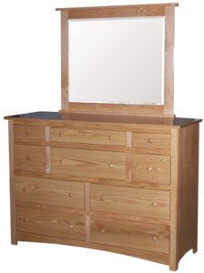 Shaker Ten Drawer Mule Dresser