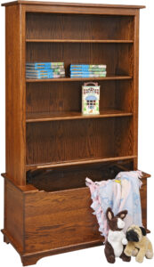 Shaker Style Toy Box With Bookcase