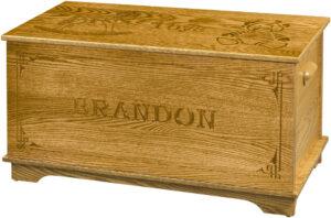 Shaker Style Toy Box - Name Engraving