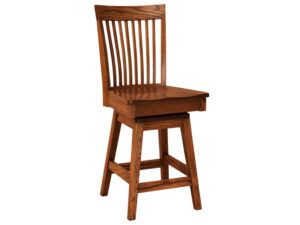 Shelby Hardwood Swivel Bar Stool
