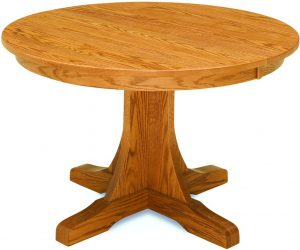 Single Pedestal Mission Dining Table
