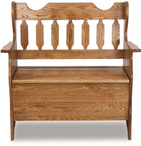 Slat Back Wood Bench