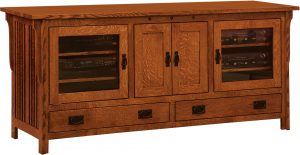 Straight Royal Mission Four Door TV Stand