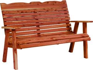Cedar Loveseat Bench