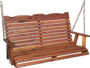 Cedar Straight Back Porch Swing