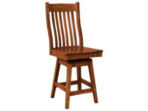 Sullivan Hardwood Swivel Bar Stool