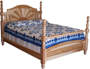 Solid Wood Amish Sunrise Bed