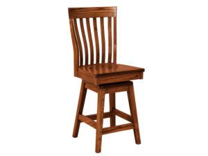 Theodore Hardwood Swivel Bar Stool