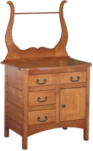 Granny Mission Amish Three Drawer Commode