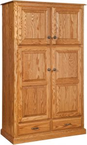 Traditional Four Door-Two Drawer Pantry