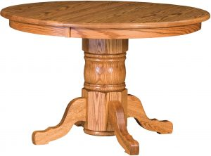 Traditional Single Pedestal Dining Table