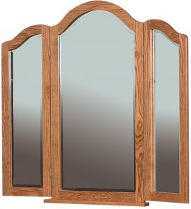Hardwood Tri-View Dresser Mirror