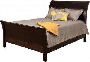 Urban Sleigh Hardwood Bed