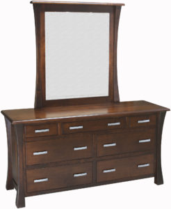 Vandalia 7 Drawer Dresser with Mirror