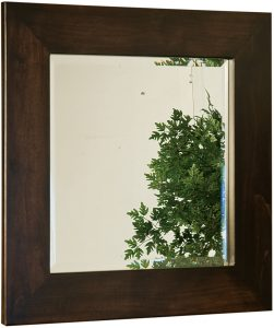 Hardwood Venice Square Mirror
