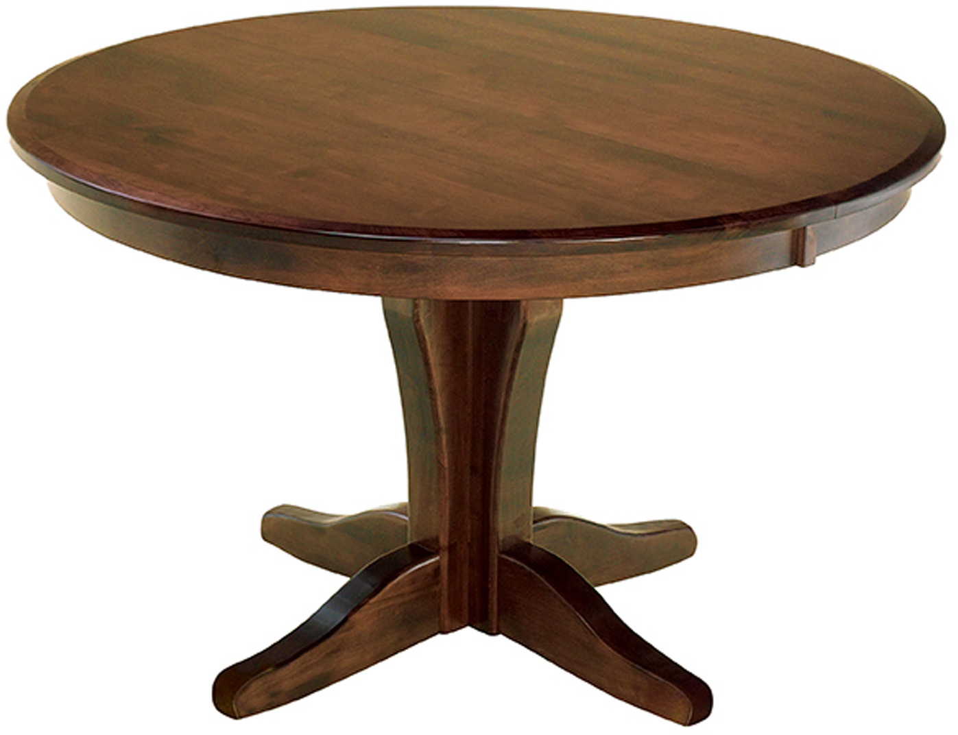 Vintage Pedestal Dining Room Table Amish Vintage Round