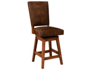 Warner Hardwood Swivel Bar Stool