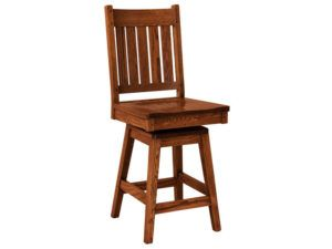 Williamsburg Hardwood Swivel Bar Stool