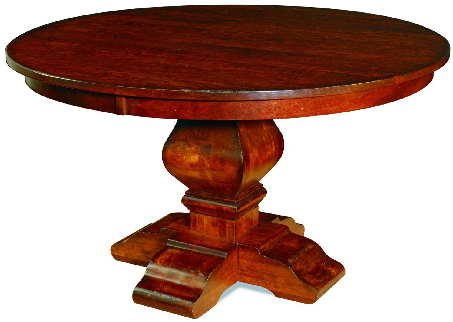 Wilmington Dining Table Custom Amish Round Wilmington