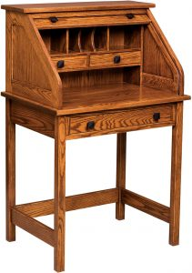 Mission Roll Top Writing Desk