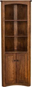 Mission Corner Bookcase