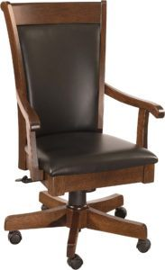 Acadia Leather Desk Chair