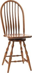 Bent Feather Bow-Back Barstool