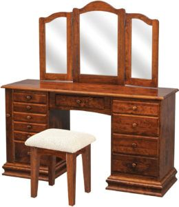 Deluxe Clockbase Jewelry Dressing Table