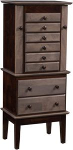 48 inch Split Deco Shaker Jewelry Armoire