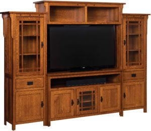 Straight Royal Mission TV Wall Unit