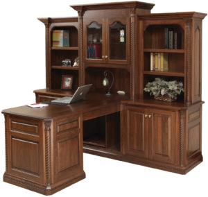 Lexington Partner Desk with Hutch