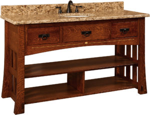 Mesa Wide Single Sink Cabinet