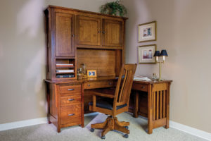 Boston Corner Desk and Hutch
