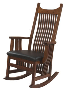 Royal Mission Leather Seat Rocker