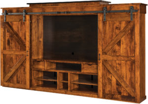 Teton Barn Door Wall Unit