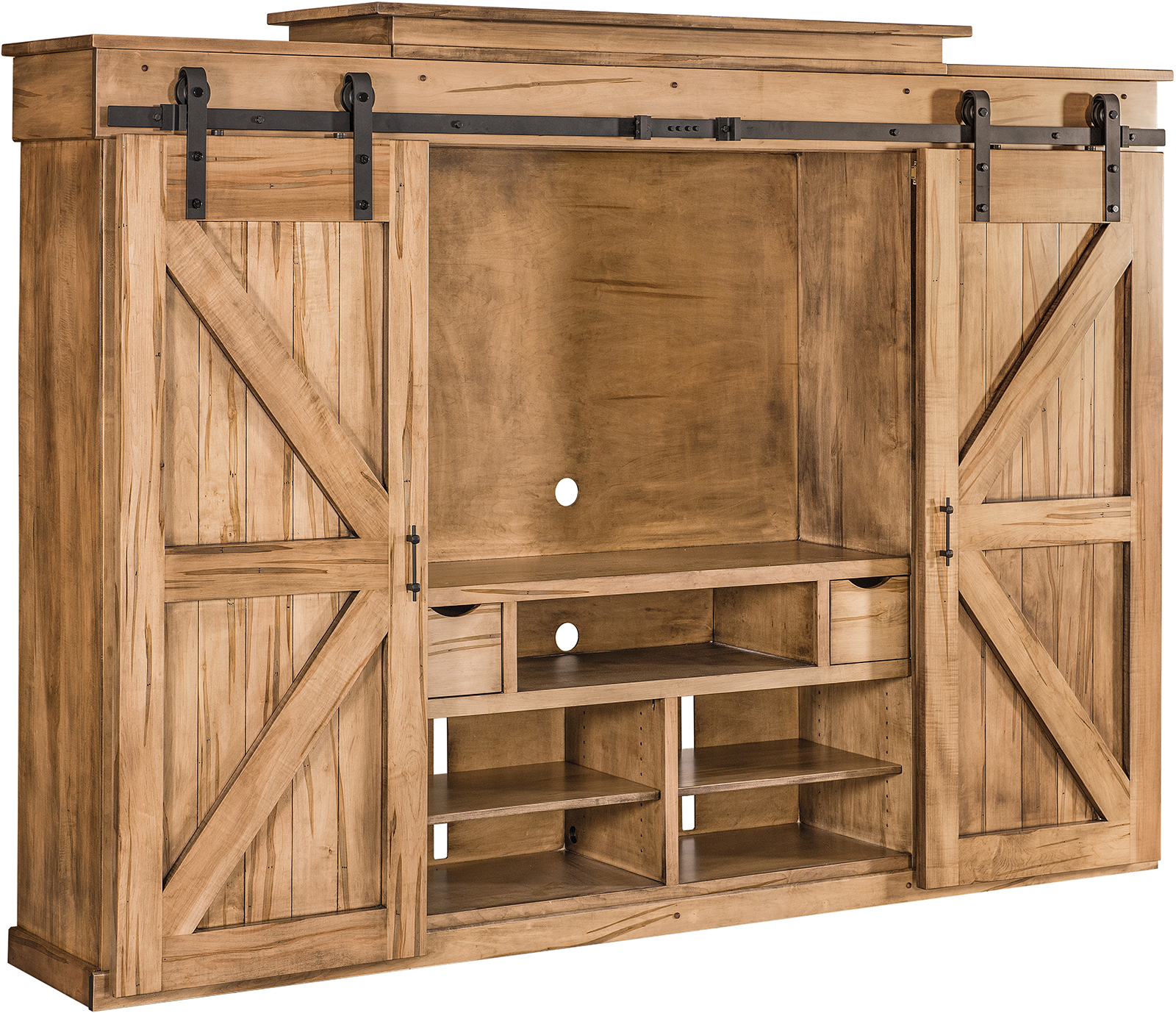 Teton Barn Door Wall Unit Custom Amish Teton Barn Door