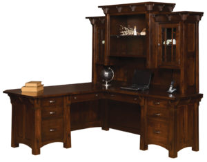 Manitoba Corner Desk and Hutch