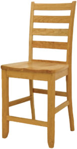 Ladder Back Shaker Bar Chair