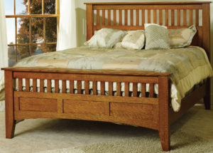 Slat-Panel Mission Antique Bed