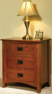 Mission Antique 3 Drawer Nightstand