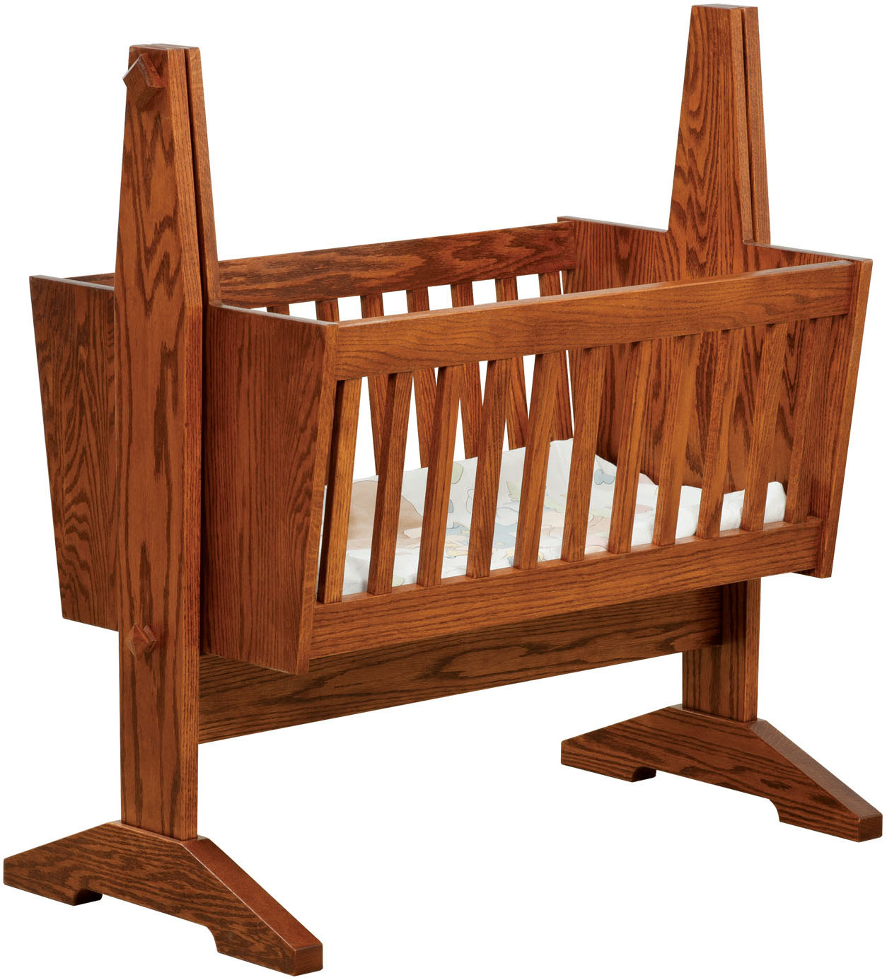Mission Baby Cradle Mission Solid Wood Baby Cradle