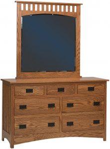 Schwartz Mission Dresser and Mirror