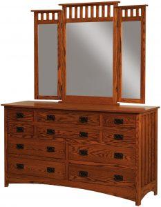 Schwartz Mission 10 Drawer Dresser