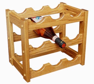 Amish Solid Wood Wine Rack