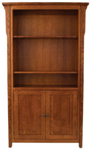 Boston 48 Inch Bookcase with Cabinets